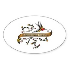 Administrative Assisting Scroll Oval Decal