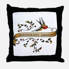 Administrative Assisting Scroll Throw Pillow