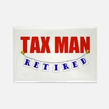 Retired Tax Man Rectangle Magnet