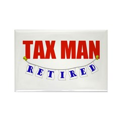 Retired Tax Man Rectangle Magnet (100 pack)