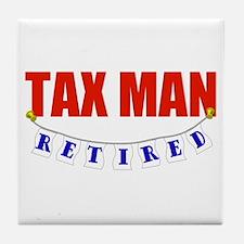 Retired Tax Man Tile Coaster