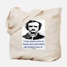POE FOOL QUOTE Tote Bag