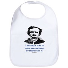 POE FOOL QUOTE Bib