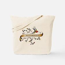 Accordion Scroll Tote Bag