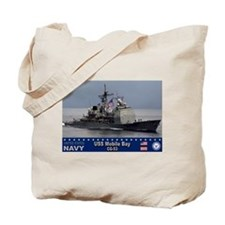 USS Mobile Bay CG-53 Tote Bag
