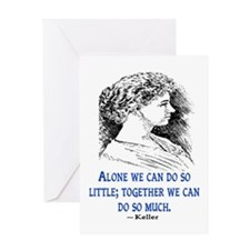KELLER QUOTE Greeting Card