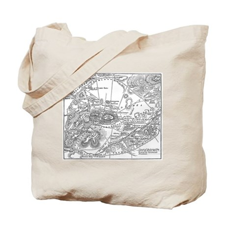Ancient Athens Map Tote Bag