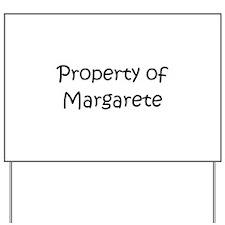 Funny Margaret Yard Sign