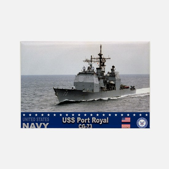 USS Port Royal CG-73 Rectangle Magnet