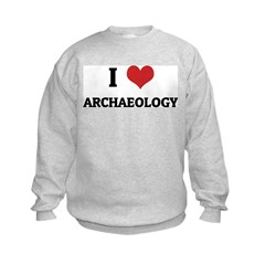 I Love Archaeology Sweatshirt
