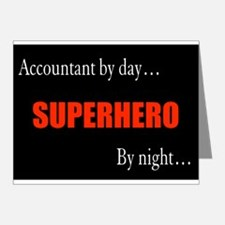 Superhero Accountant Gift Note Cards (Pk of 20)