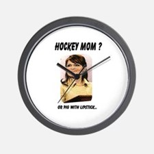 Unique Palin lipstick hockey mom Wall Clock
