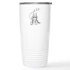 Catoons harmonica cat Travel Mug