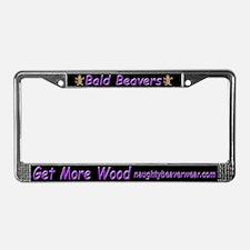Bald Beavers Get More Wood License Plate Frame