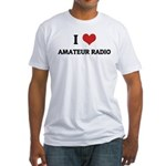 I Love Amateur Radio Fitted T-Shirt