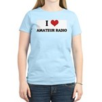 I Love Amateur Radio Women's Pink T-Shirt