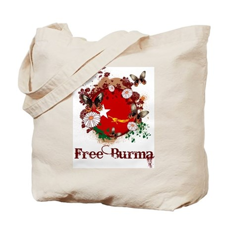Butterfly Free Burma Tote Bag