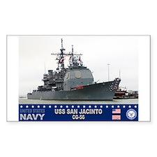USS San Jacinto CG-56 Rectangle Decal