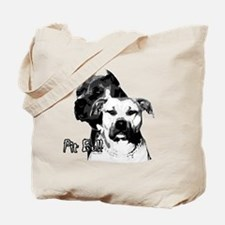 two heads pit bull design Tote Bag