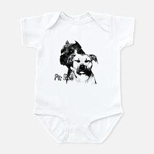 two heads pit bull design Infant Bodysuit
