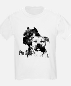 two heads pit bull design T-Shirt