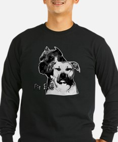 two heads pit bull design T