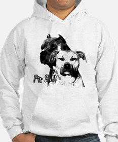 two heads pit bull design Hoodie