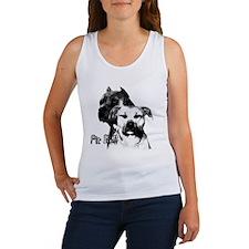 two heads pit bull design Women's Tank Top