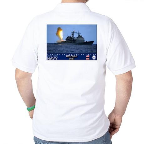USS Shiloh CG-67 Golf Shirt