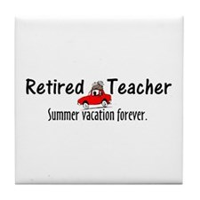 Retired Teacher Tile Coaster