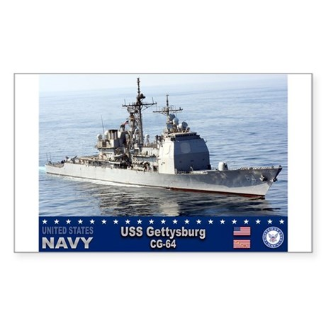 USS Gettysburg CG-64 Rectangle Sticker