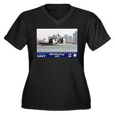 USS Valley Forge CG-50 Women's Plus Size V-Neck Da