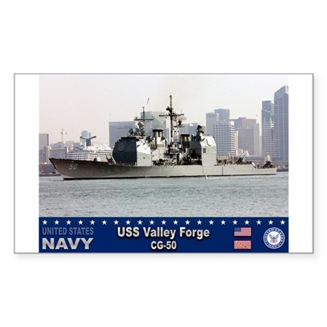 USS Valley Forge CG-50 Rectangle Sticker 50 pk)