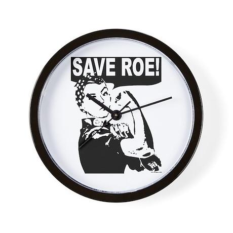 Save Roe! Wall Clock