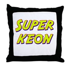 Super keon Throw Pillow