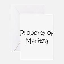 Unique Maritza Greeting Card
