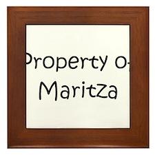 Unique Maritza Framed Tile