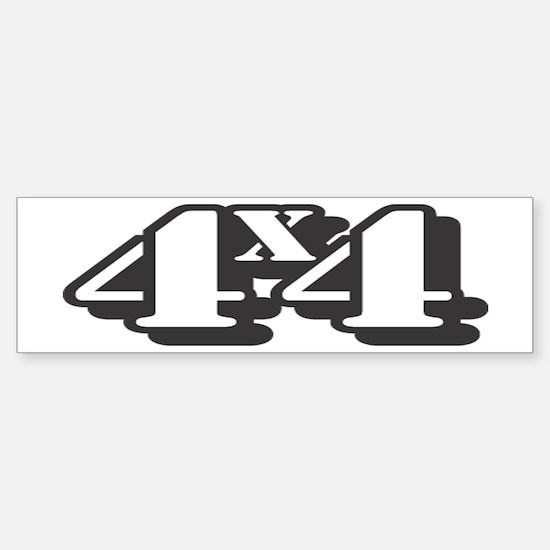 4x4 Shadow Style Bumper Bumper Bumper Sticker