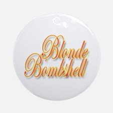 Blonde Bombshell Keepsake (Round)