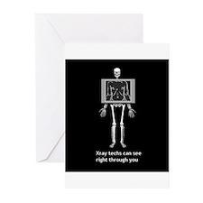 reverse xray4 Greeting Cards