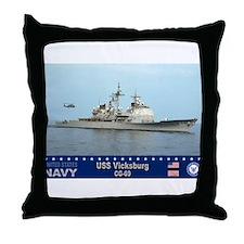 USS Vicksburg CG-69 Throw Pillow