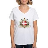 Denmark Womens V-Neck T-shirts