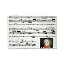 Mozart Rectangle Magnet