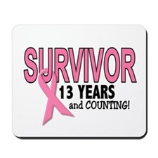 Breast Cancer Survivor 13 Years Mousepad