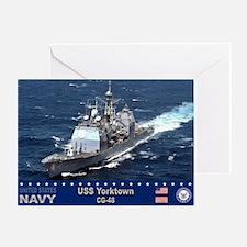 USS Yorktown CG-48 Greeting Card