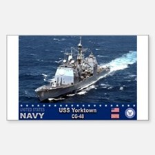 USS Yorktown CG-48 Rectangle Decal