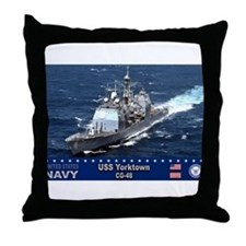 USS Yorktown CG-48 Throw Pillow