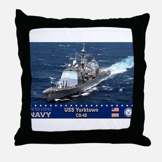 USS Yorktown CG-48 Throw Pillow