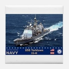 USS Yorktown CG-48 Tile Coaster