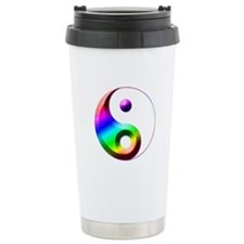 Yin & Yang Rainbow Travel Mug
